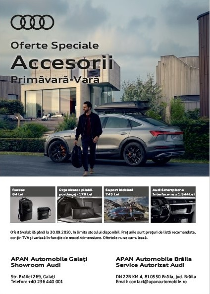 Accesorii de sezon Primăvară – Vară Audi